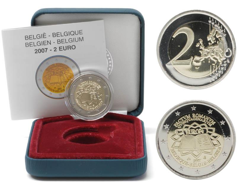 Belgien : 2 Euro Römische Verträge  2007 PP