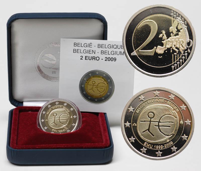 Belgien : 2 Euro 10 Jahre Euro  2009 PP 2 Euro Belgien 2009 PP