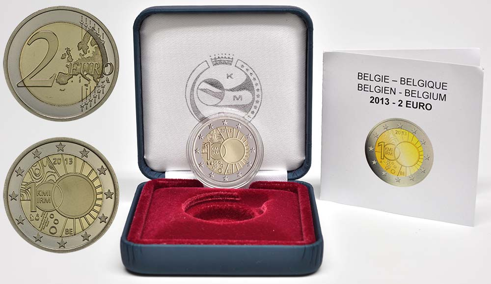 Belgien : 2 Euro Meteorologisches Institut  2013 PP