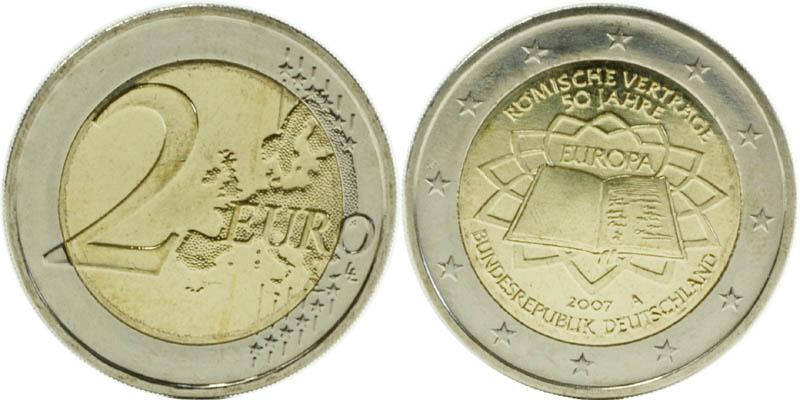 Übersicht:Deutschland : 2 Euro Römische Verträge  2007 bfr