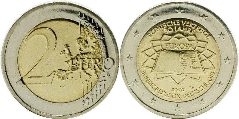 Deutschland : 2 Euro Römische Verträge  2007 bfr