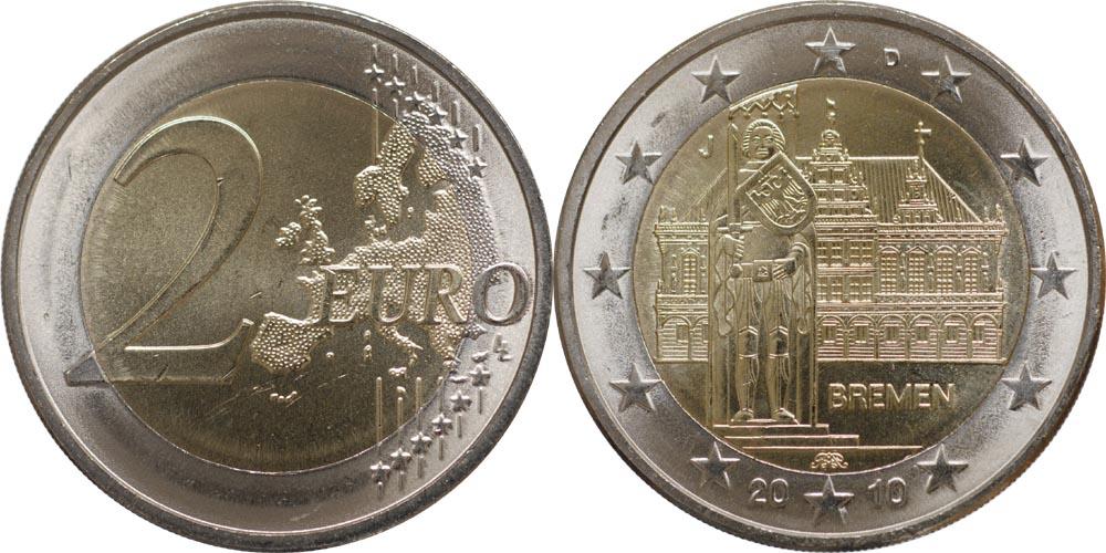 Lieferumfang:Deutschland : 2 Euro Bremen  2010 bfr