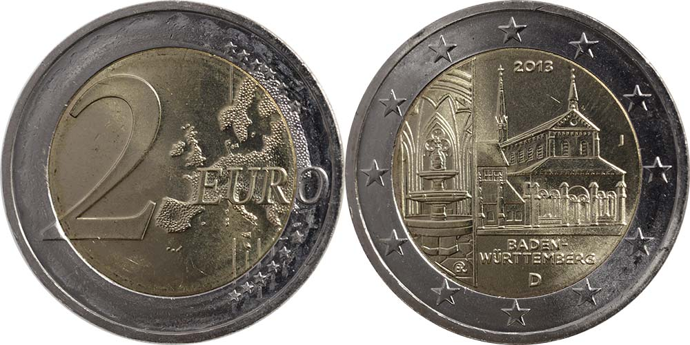 Deutschland : 2 Euro Baden Württemberg - Zisterzienserkloster Maulbronn  2013 bfr