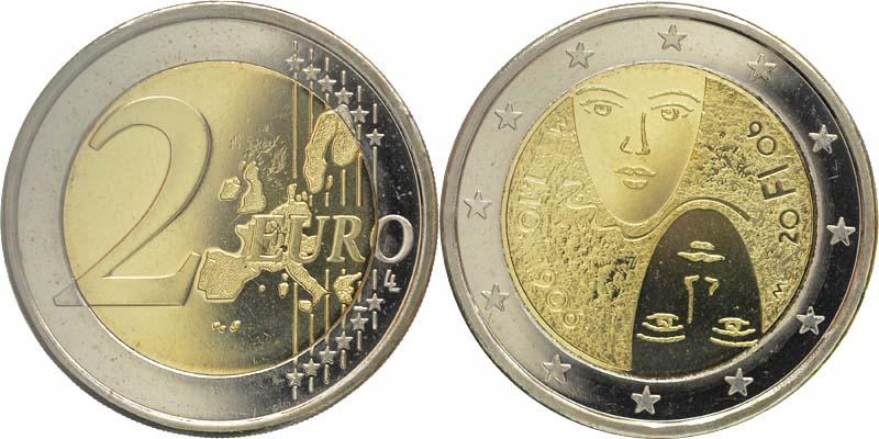 Lieferumfang:Finnland : 2 Euro 100 Jahre Wahlrecht  2006 bfr 2 Euro Finnland 2006