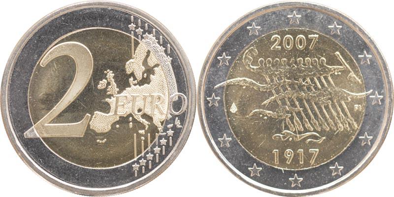 Lieferumfang:Finnland : 2 Euro 90. Jahrestag der Unabhängigkeit  2007 bfr