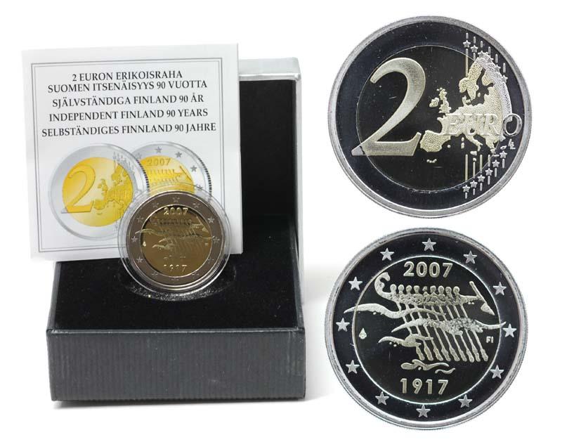 Finnland : 2 Euro 90. Jahrestag der Unabhängigkeit  2007 PP 2 Euro Finnland 2007 PP