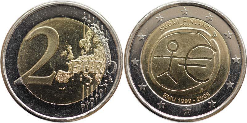 Übersicht:Finnland : 2 Euro 10 Jahre Euro  2009 bfr