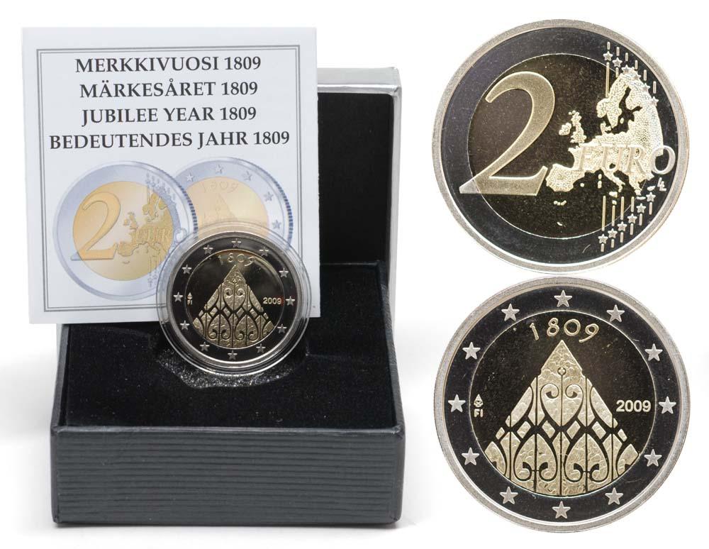 Übersicht:Finnland : 2 Euro 200 Jahrestag der Autonomie  2009 PP