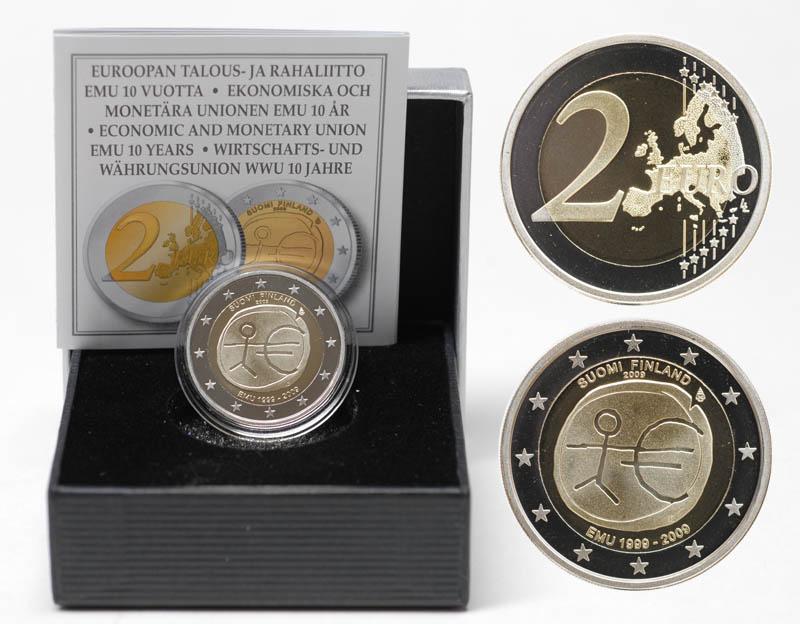 Lieferumfang:Finnland : 2 Euro 10 Jahre Euro  2009 PP 2 Euro Finnland 2009 PP