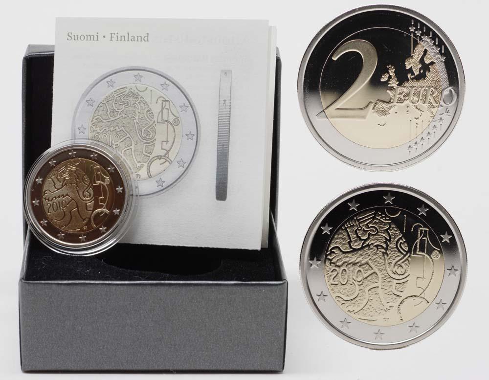 Lieferumfang:Finnland : 2 Euro 150 Jahre Finnische Währung inkl. Originaletui und Zertifikat  2010 PP 2 Euro Finnland 2010 PP