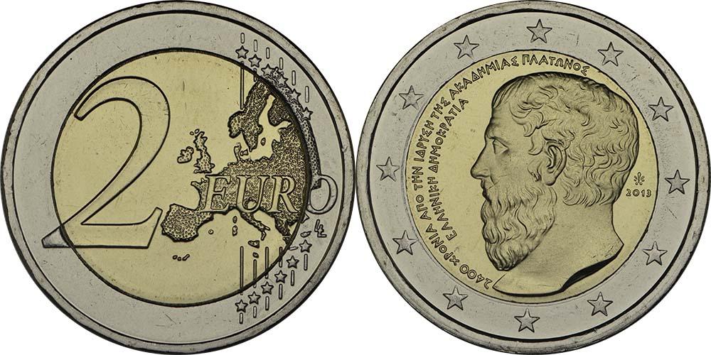 Griechenland : 2 Euro Platon Akademie  2013 bfr