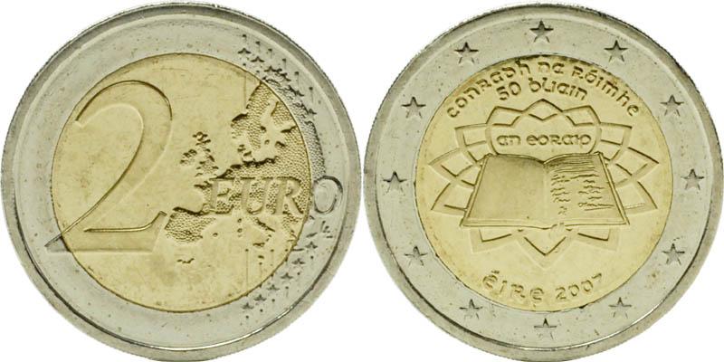 Irland : 2 Euro Römische Verträge  2007 bfr