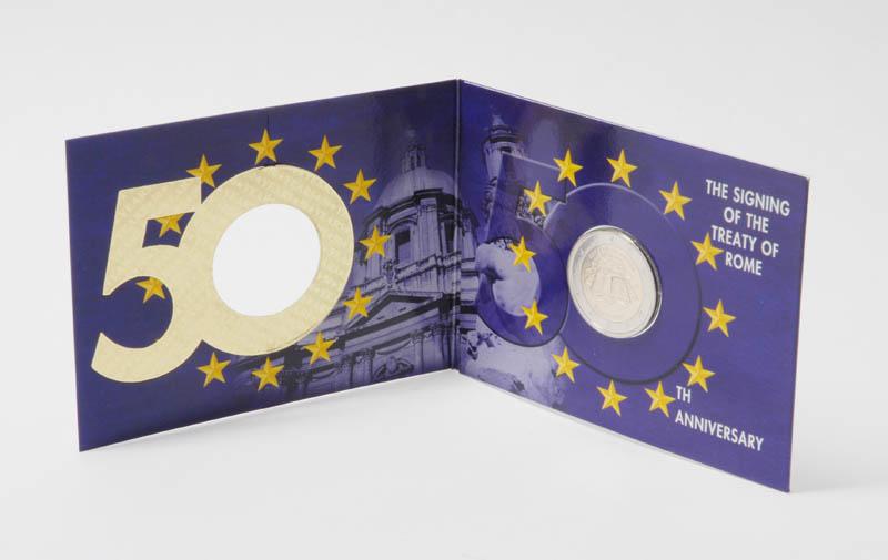 Übersicht:Irland : 2 Euro Römische Verträge in Coincard  2007 Stgl.