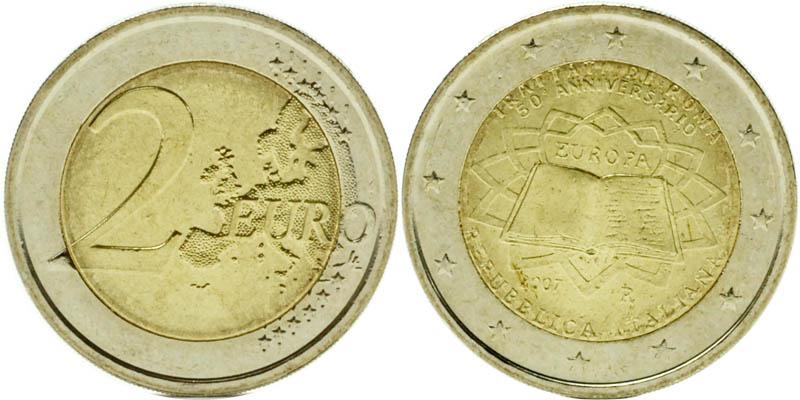 Übersicht:Italien : 2 Euro Römische Verträge  2007 bfr