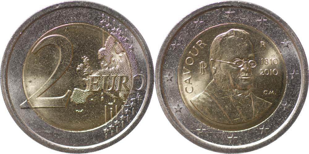 Lieferumfang:Italien : 2 Euro 200. Geburtstag von Camillo Benso di Cavour  2010 bfr