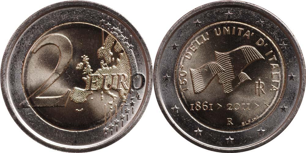 Italien : 2 Euro 150 Jahre Einigung Italiens  2011 bfr