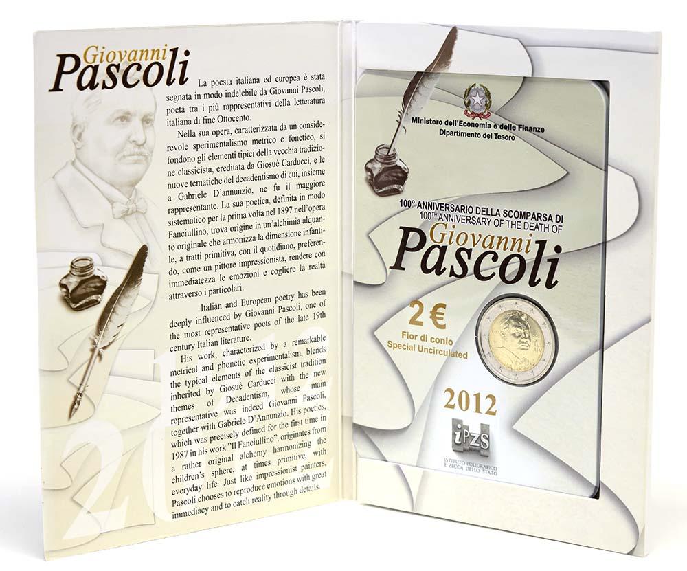 Lieferumfang:Italien : 2 Euro 100. Todestag Giovanni Pascoli  2012 Stgl.