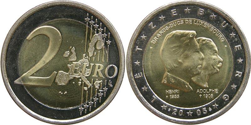 Luxemburg : 2 Euro Henri und Adolphe  2005 bfr