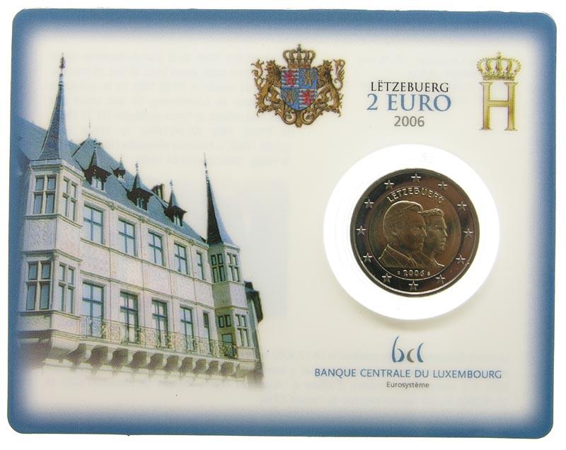 Luxemburg : 2 Euro 25. Geburtstag von Erbgroßherzog Guillaume  2006 Stgl. 2 Euro Luxemburg Coincard 2006