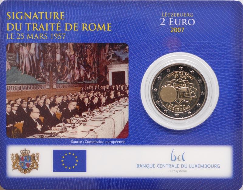 Luxemburg : 2 Euro Römische Verträge  2007 Stgl.
