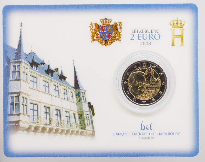 Lieferumfang:Luxemburg : 2 Euro Chateau de Berg  2008 Stgl.