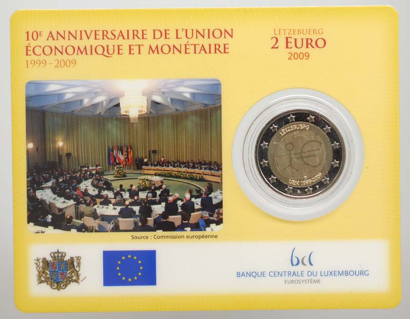 Luxemburg : 2 Euro 10 Jahre Euro  2009 Stgl.