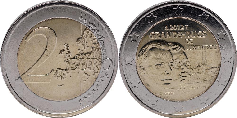 Luxemburg : 2 Euro Guillaume IV  2012 bfr