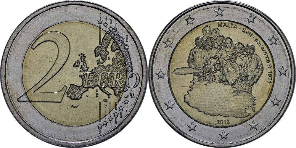 Malta : 2 Euro Selbstverwaltung  2013 bfr