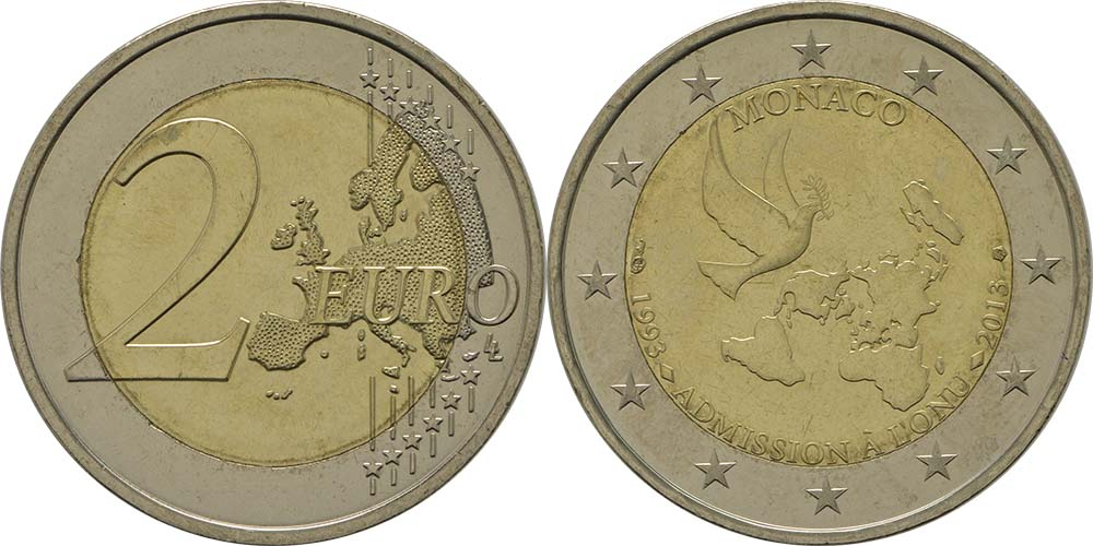 Monaco : 2 Euro Uno  2013 bfr