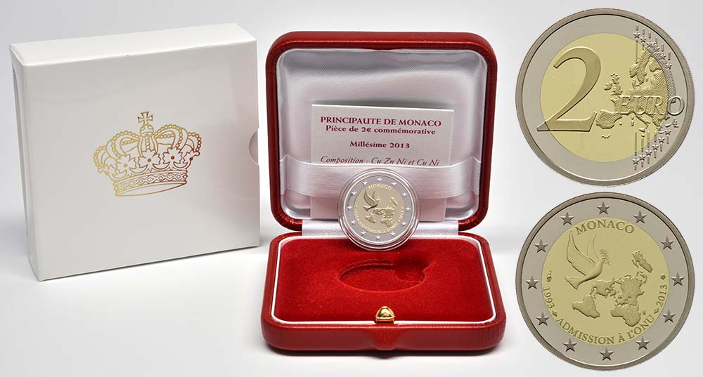 Monaco : 2 Euro Uno  2013 PP