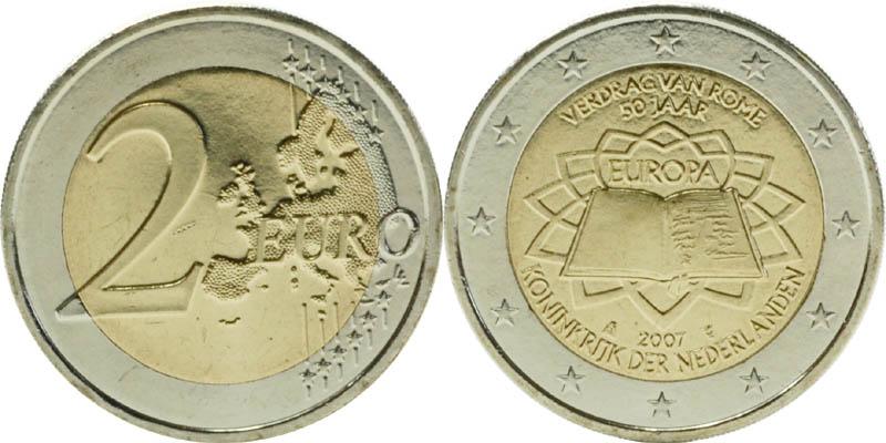Niederlande : 2 Euro Römische Verträge  2007 bfr
