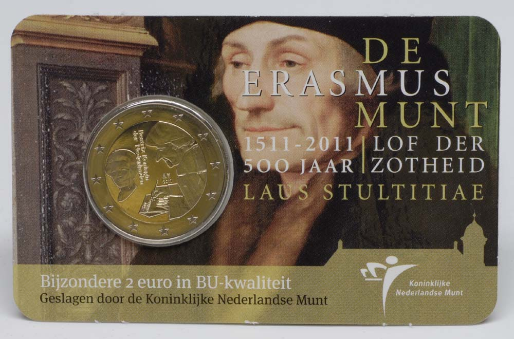 Lieferumfang:Niederlande : 2 Euro Erasmus  2011 Stgl. 2 Euro Erasmus im Blister 2011 Niederlande