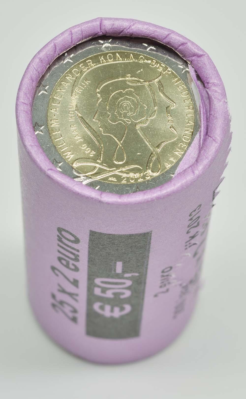 Niederlande : 2 Euro 25x 2 Euro Königreich - eine Rolle  2013 Stgl.