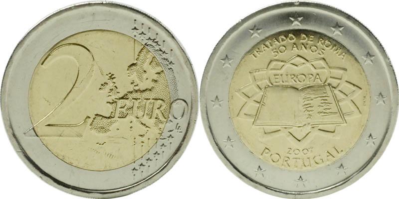 Übersicht:Portugal : 2 Euro Römische Verträge  2007 bfr