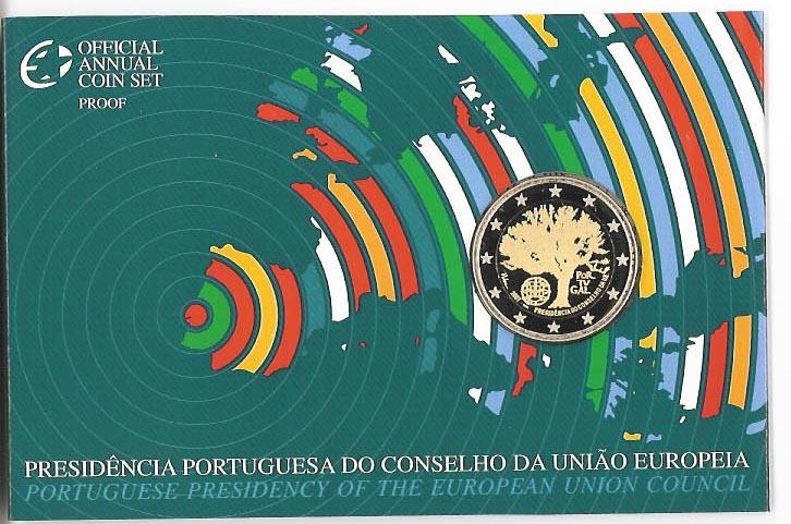 Lieferumfang:Portugal : 2 Euro EU-Präsidentschaft im Originalblister  2007 PP 2 Euro Portugal PP 2007