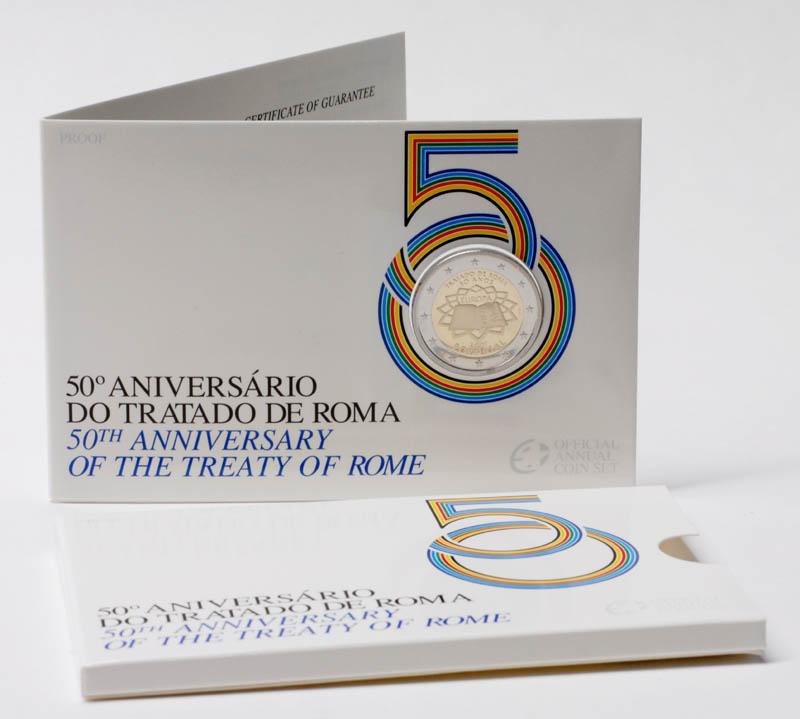 Portugal : 2 Euro Römische Verträge im Originalblister  2007 PP