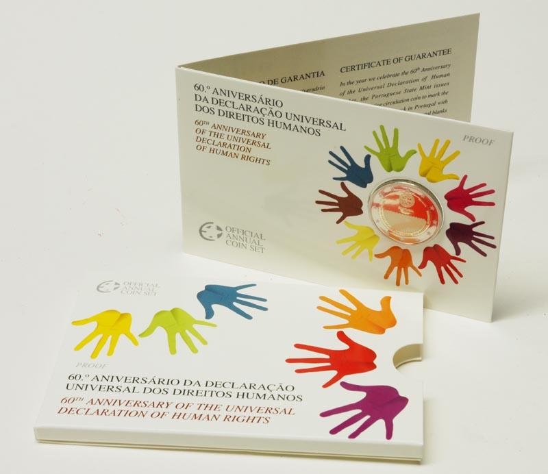 Portugal : 2 Euro Menschenrechte im Originalblister  2008 PP Portugal 2 Euro Menschenrechte PP 2008