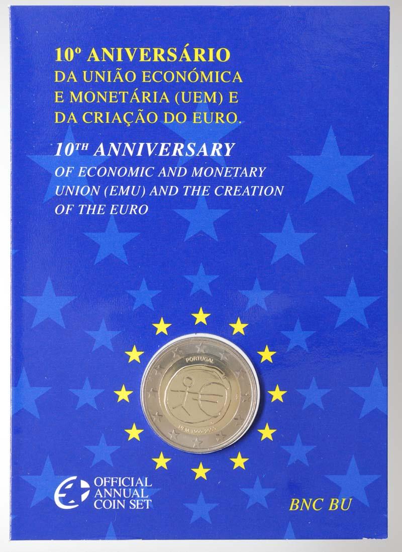 Lieferumfang:Portugal : 2 Euro 10 Jahre Euro in Originalblister  2009 Stgl.