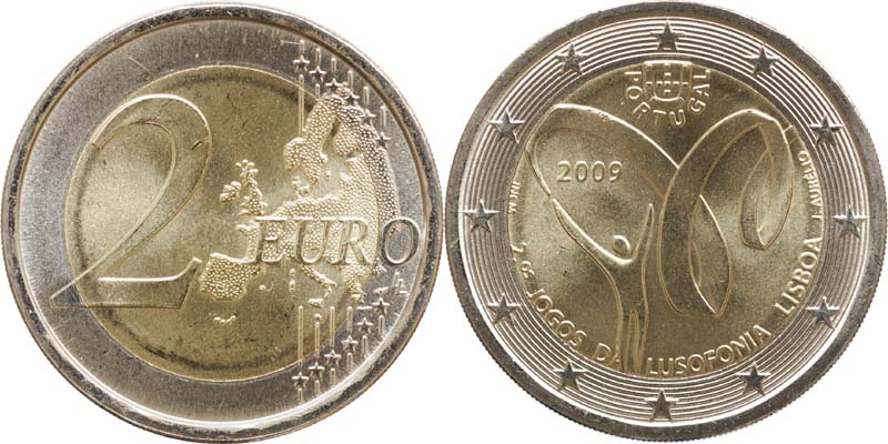 Lieferumfang:Portugal : 2 Euro Lusophonie  2009 bfr