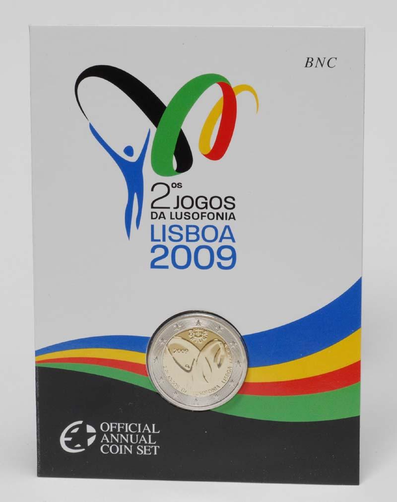 Lieferumfang:Portugal : 2 Euro Lusophonie im Originalblister  2009 Stgl.