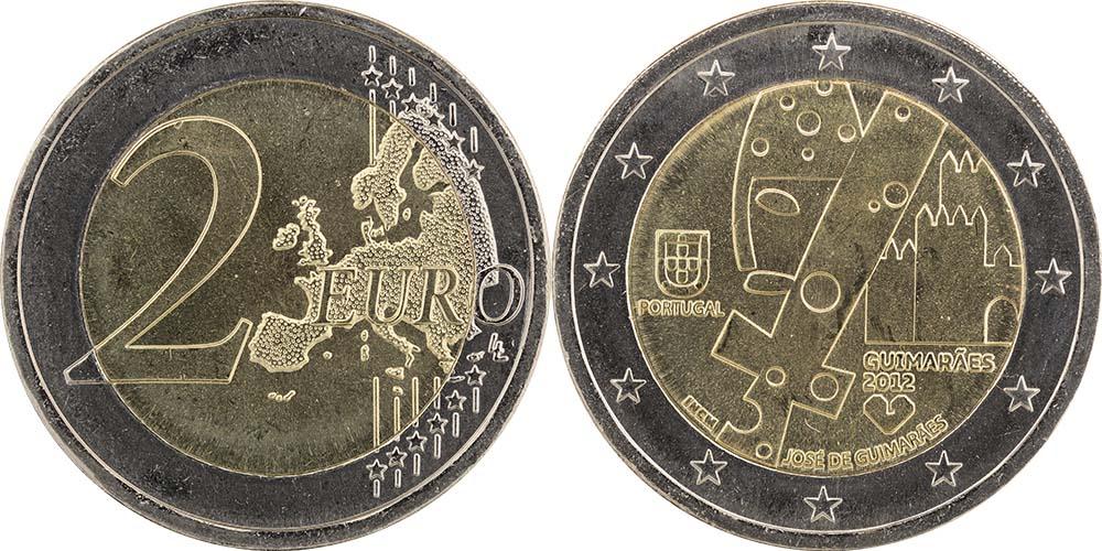 Lieferumfang:Portugal : 2 Euro Europäische Kulturhauptstadt Guimaraes  2012 bfr