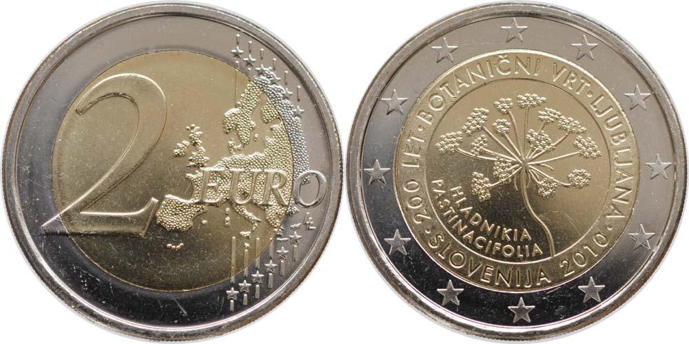 Slowenien : 2 Euro 200 Jahre Botanischer Garten Ljubljana  2010 bfr
