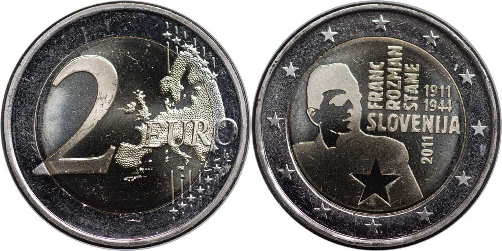 Slowenien : 2 Euro Rozmann  2011 bfr