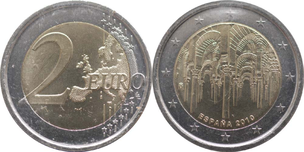 Spanien : 2 Euro Cordoba  2010 bfr