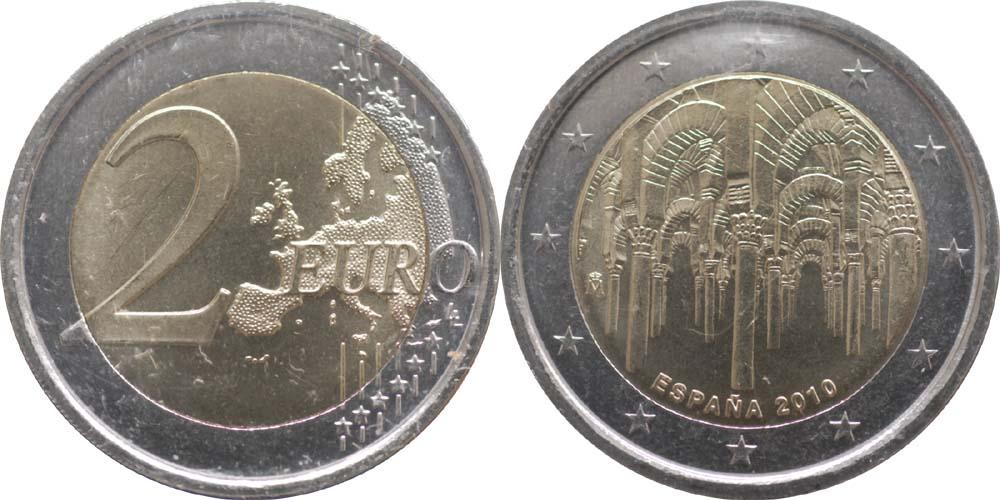 Übersicht:Spanien : 2 Euro Cordoba  2010 bfr