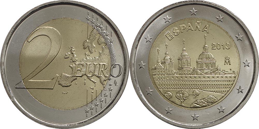 Übersicht:Spanien : 2 Euro El Escorial  2013 bfr