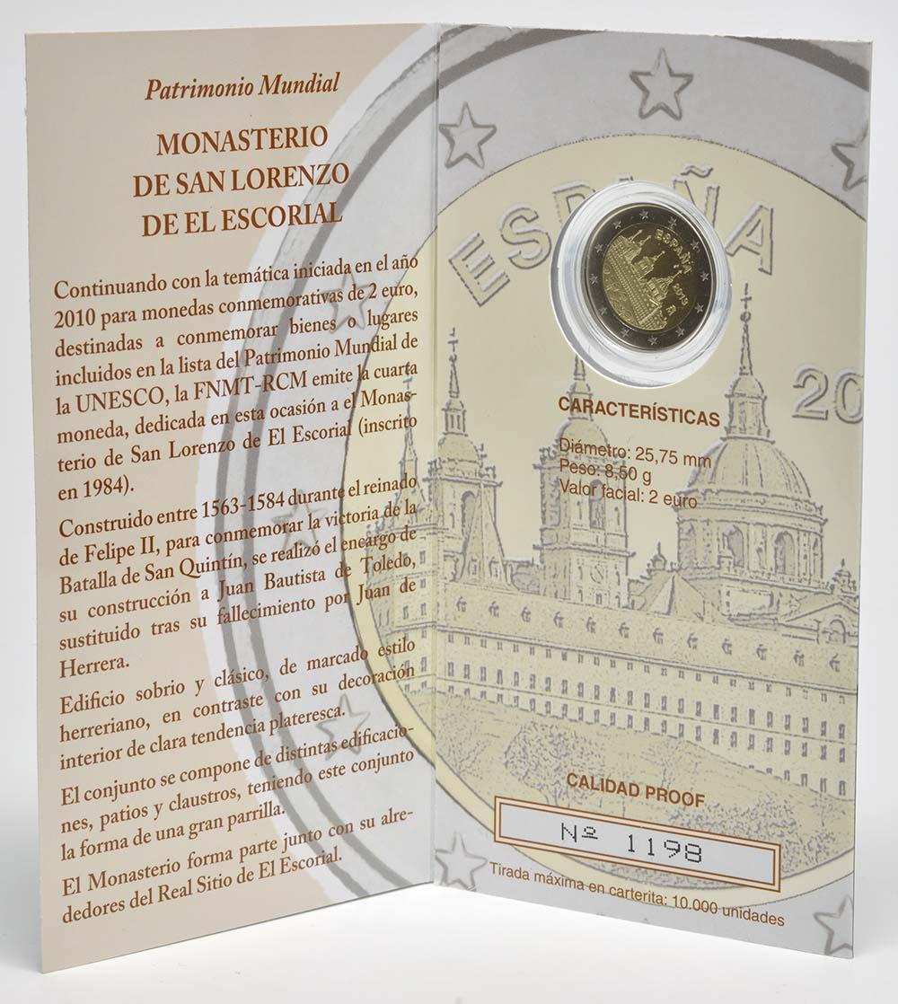 Spanien : 2 Euro El Escorial  2013 PP