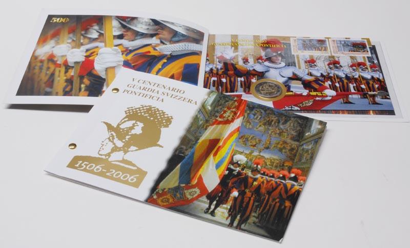 Vatikan : 2 Euro Schweizer Garde im Folder mit Briefmarken  2006 Stgl. 2 euro numisbrief vatikan 2006