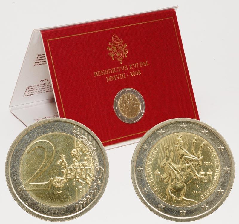 Übersicht:Vatikan : 2 Euro Paulusjahr  2008 Stgl. 2 Euro Vatikan 2008