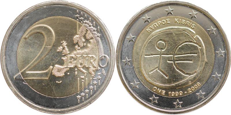 Zypern : 2 Euro 10 Jahre Euro  2009 bfr